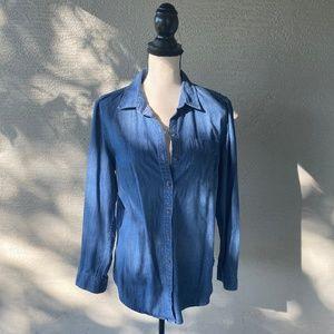 Tommy Hilfiger Women's Denim Long Sleeve Shirt